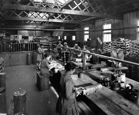 Barnbow No. 1 (Leeds) National Filling Factory, Tin-smithing and Cylinder Repair shop